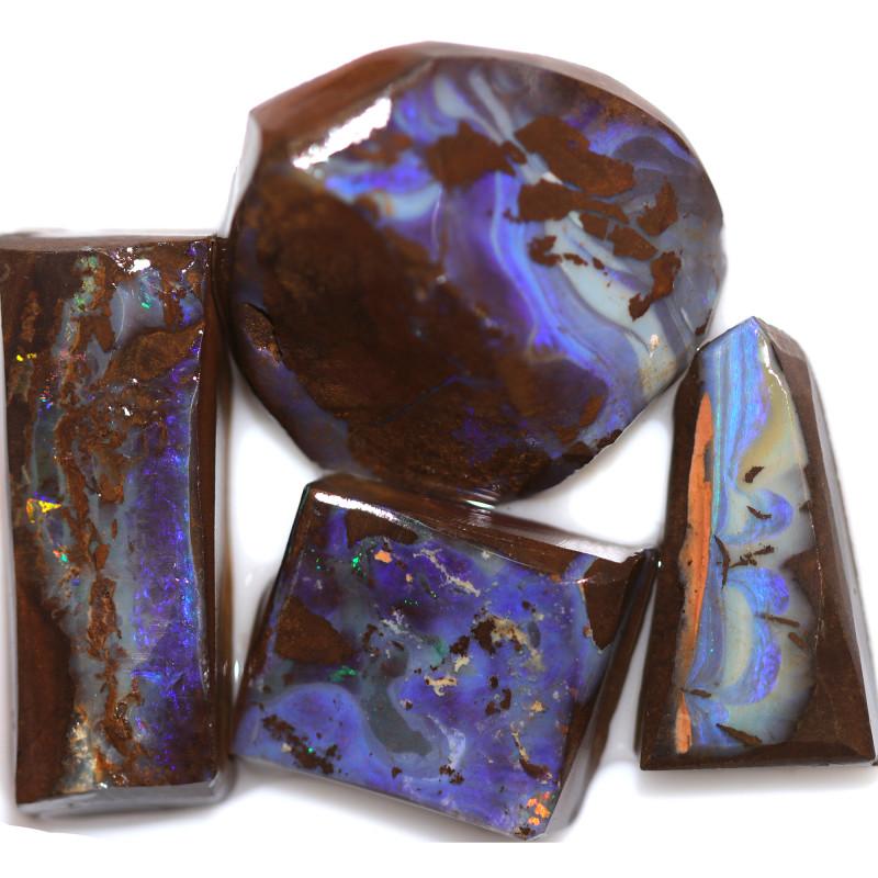 $32 PER STONE 118.30 CTS  BLUE BOULDER ROUGH PARCEL-JUNDAH [BY8440]