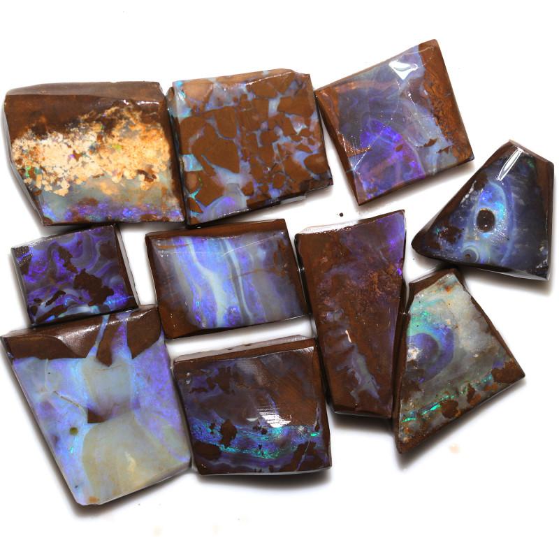 $20 PER STONE 378.55 CTS  BLUE BOULDER ROUGH PARCEL-JUNDAH [BY8483]