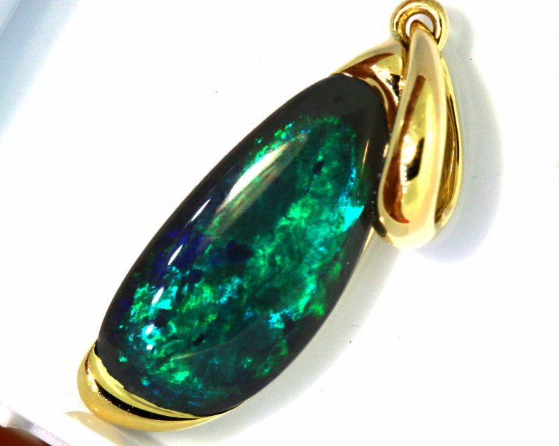 9.45 CTS BLACK OPAL PENDANT   OF-A207 LAZ