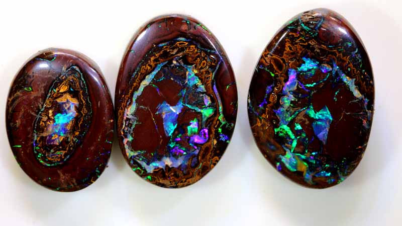 50.40CTS KOROIT  OPAL STONE NUT POLISHED 3PCS  NC-7232