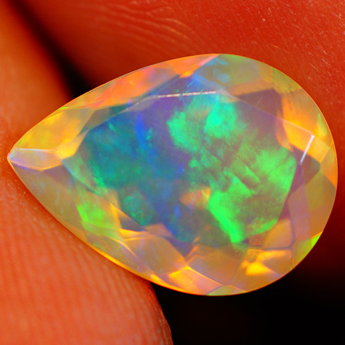 2.42 CT Extra Fine Quality Faceted Cut Ethiopian Opal -GF213