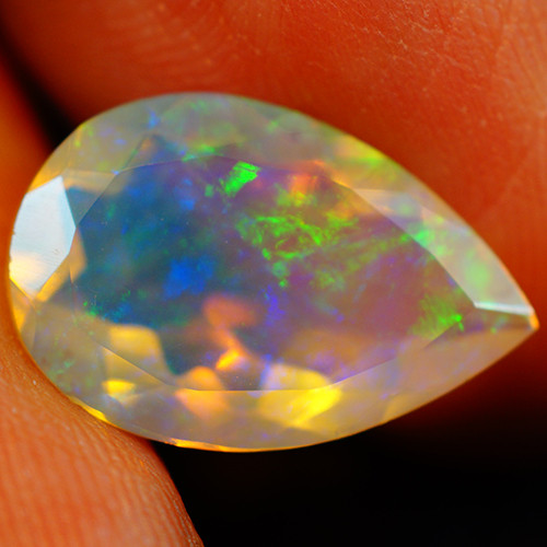 3.47 CT Extra Fine Quality Faceted Cut Ethiopian Opal -GF215