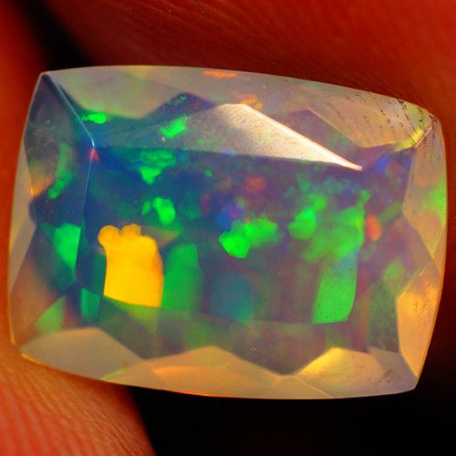 1.97 CT Extra Fine Quality Faceted Cut Ethiopian Opal -GF235