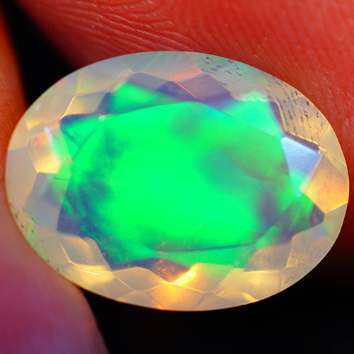 3.05 CT Extra Fine Quality Faceted Cut Ethiopian Opal -GF242