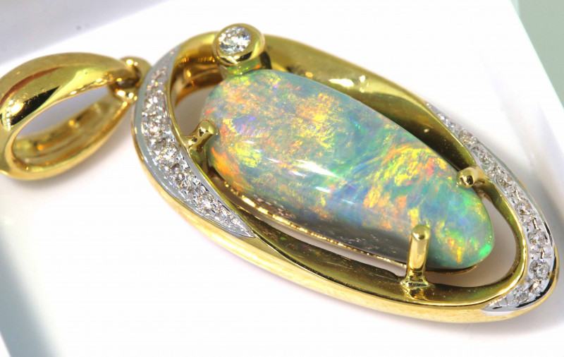 21.65 CTS BLACK OPAL PENDANT   OF-M653  LAZ