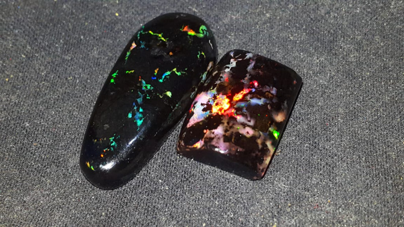 24.00 CRT BEAUTY FLORAL COLOR PATTERN INDONESIAN OPAL WOOD FOSSIL