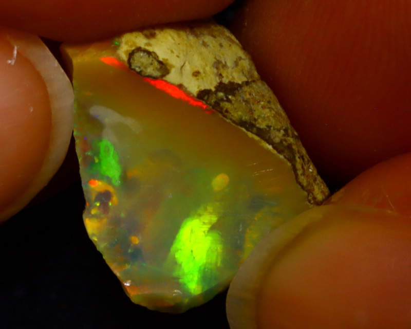 6.27Ct Multi Color Play Ethiopian Welo Opal Rough J1412/R2