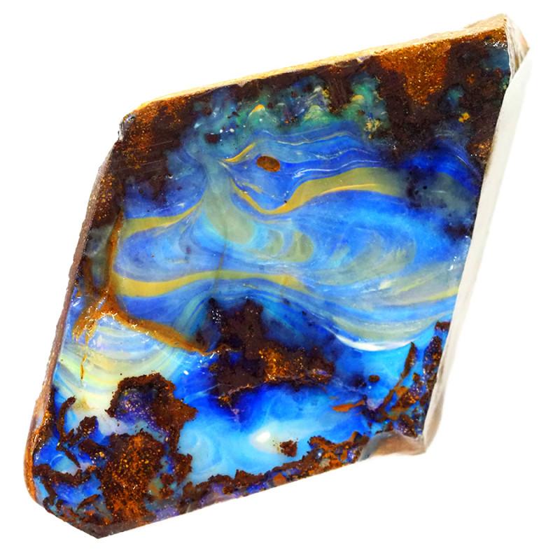 83.9cts Boulder Opal Rough/Rub Pre-Shaped  S1297