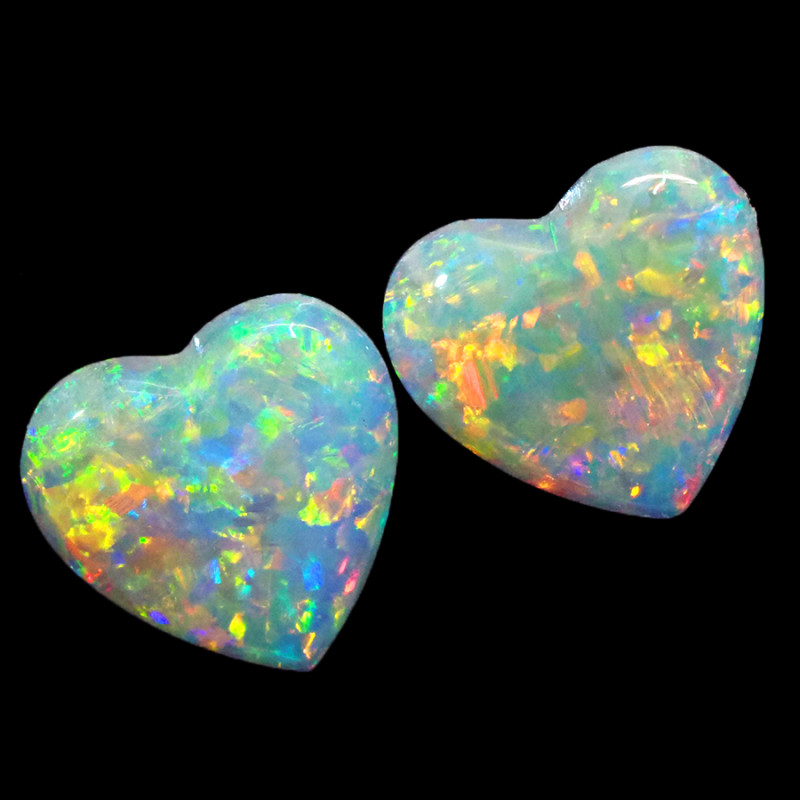1.4CTS COOBER PEDY OPAL PAIR GREAT COLOUR PLAY  S1392