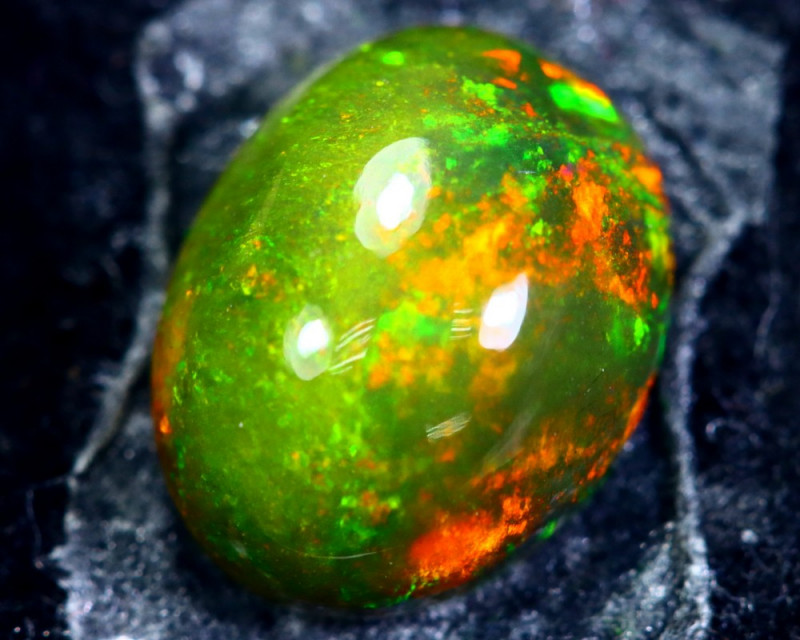1.60cts Natural Ethiopian Smoked Black Opal / HM155