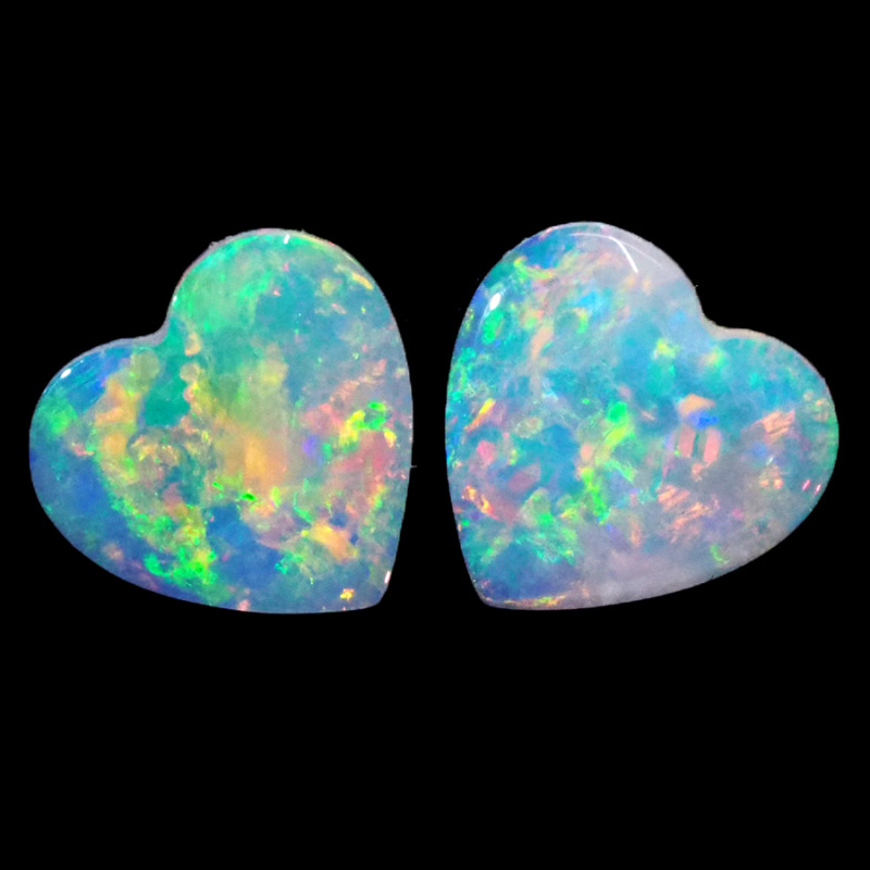 0.96CTS COOBER PEDY OPAL PAIR GREAT COLOUR PLAY  S1453