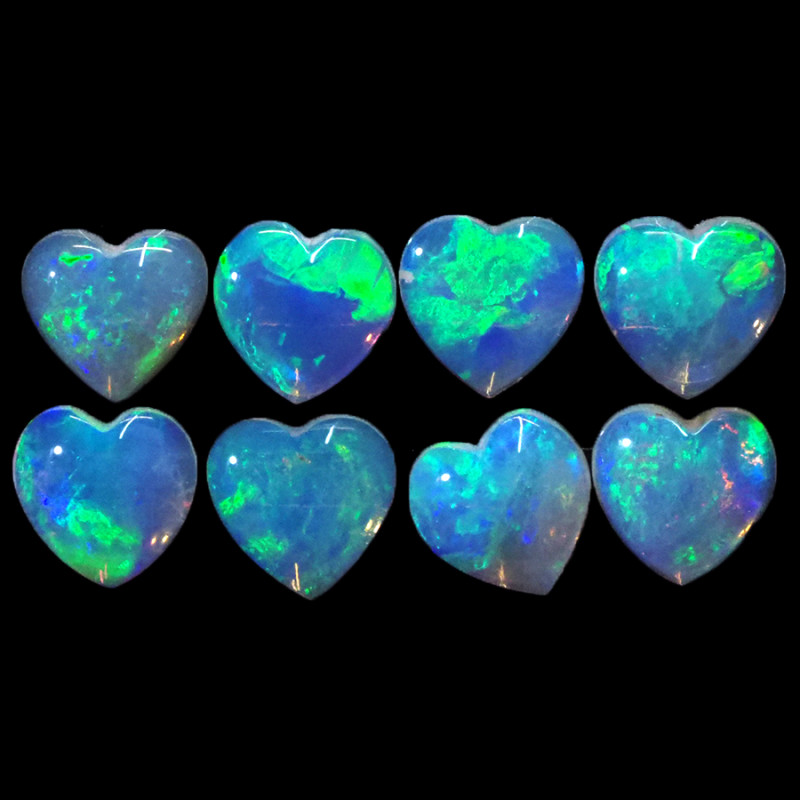 1.86CTS 8 PIECES CALIBRATED OPAL PARCEL GREAT COLOR PLAY- S1455