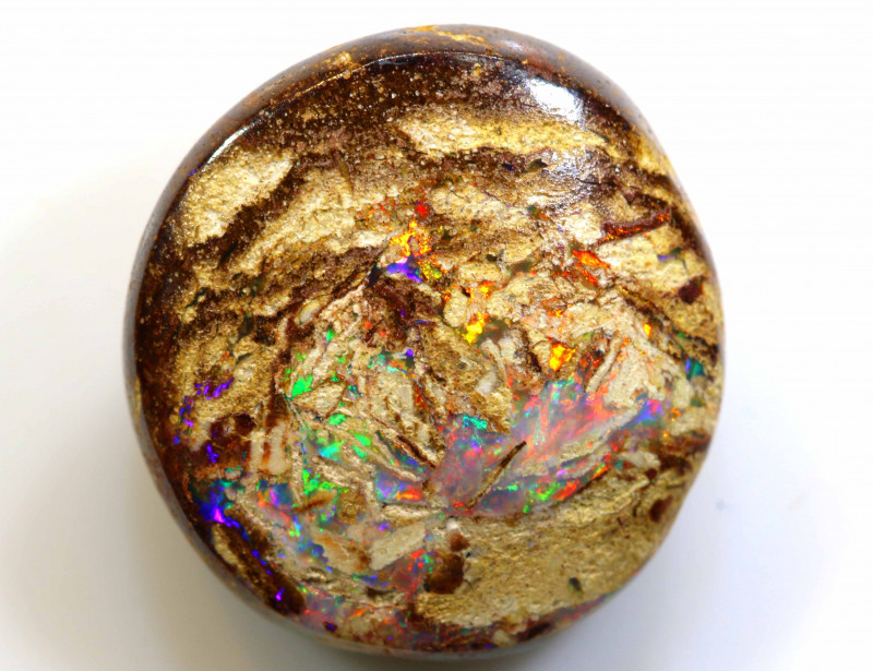10.2  CTS BOULDER WOOD FOSSIL OPAL STONE  NC-4790