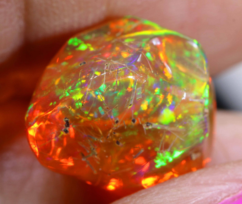 9.70 CTS MEXICAN FIRE OPAL STONE  FOB -2082