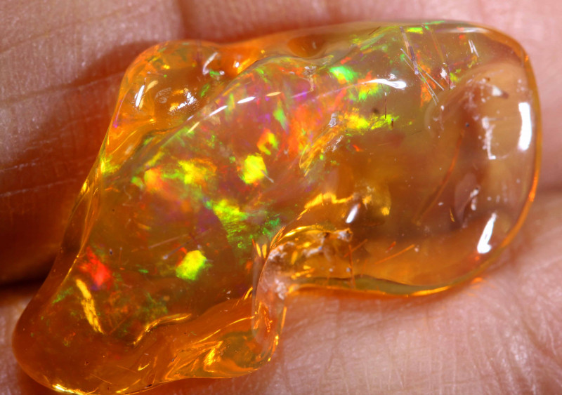 9.40 CTS MEXICAN FIRE OPAL STONE  FOB -2085