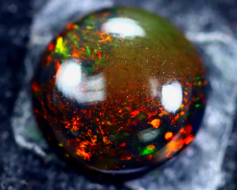 1.58cts Natural Ethiopian Smoked Opal / HM188