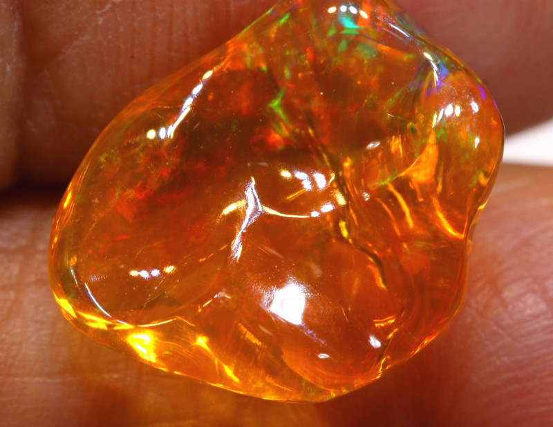 4.80 CTS MEXICAN FIRE OPAL STONE  FOB -2100