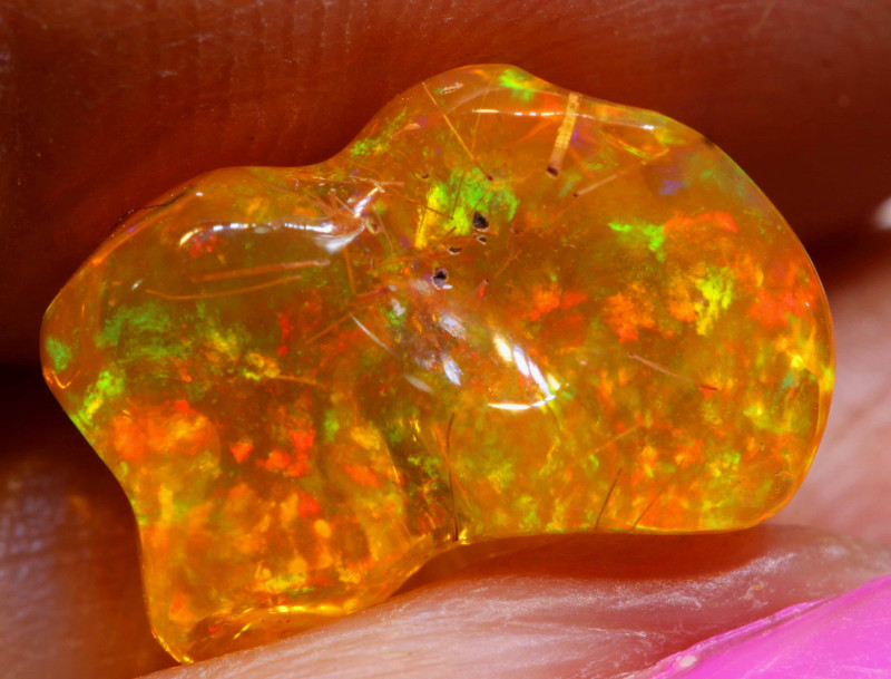 3.70 CTS MEXICAN FIRE OPAL STONE  FOB -2110