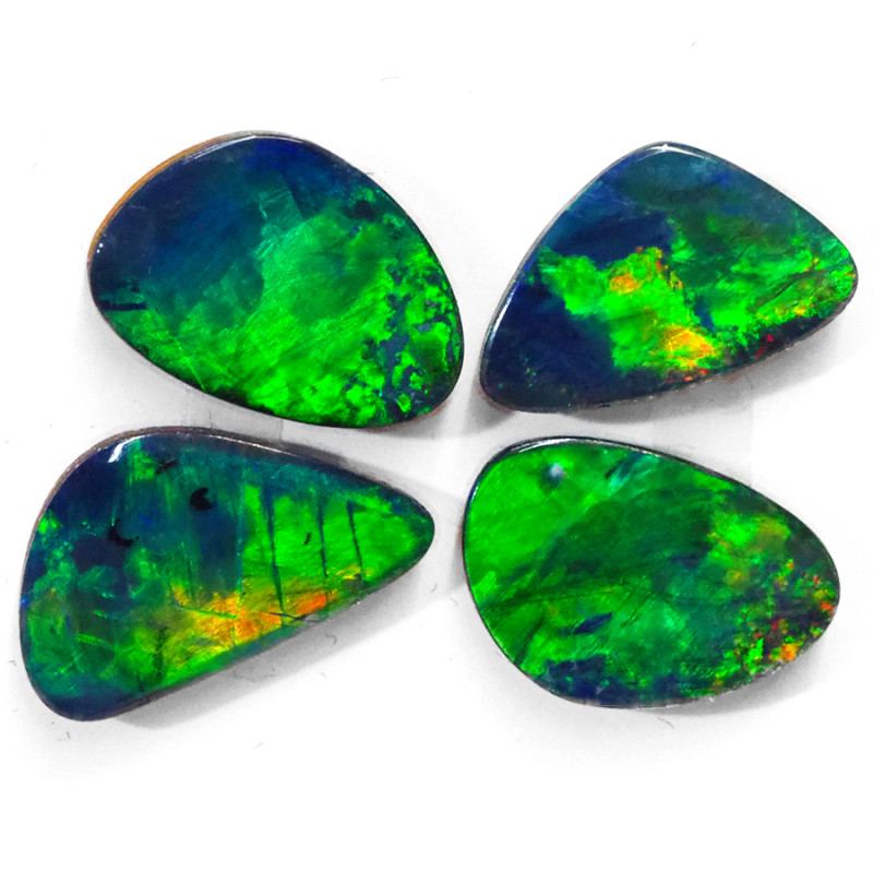 6.13CTS 4 PIECES OPAL DOUBLET PARCEL GREAT COLOUR PLAY --S1483