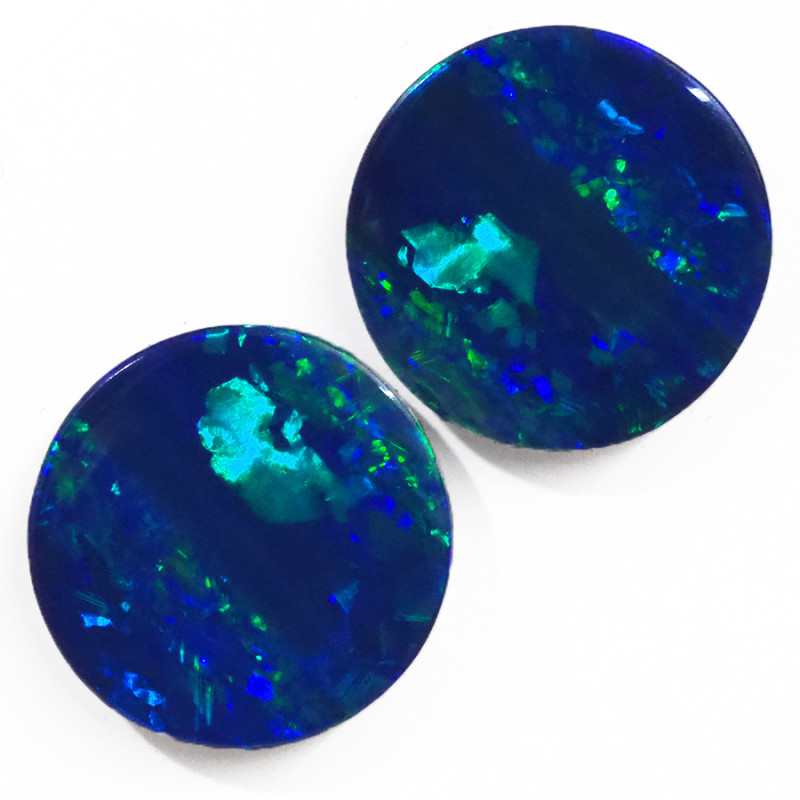 7.16CTS  OPAL DOUBLET PAIR  GREAT COLOUR PLAY --S1485