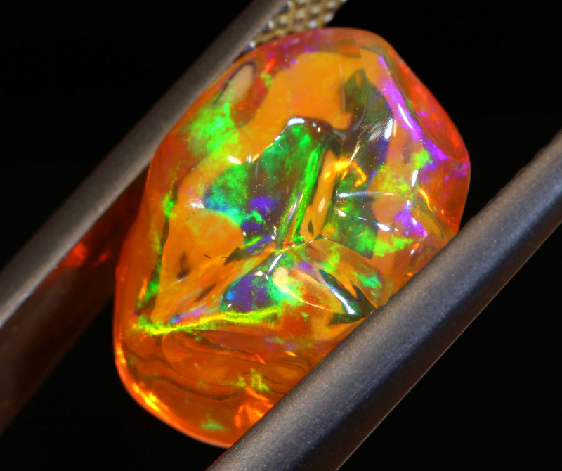 4.90 CTS MEXICAN FIRE OPAL STONE  FOB -2127