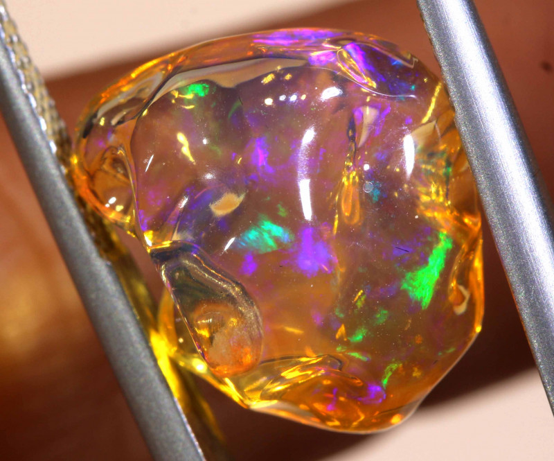 7.05 CTS MEXICAN FIRE OPAL STONE  FOB -2128