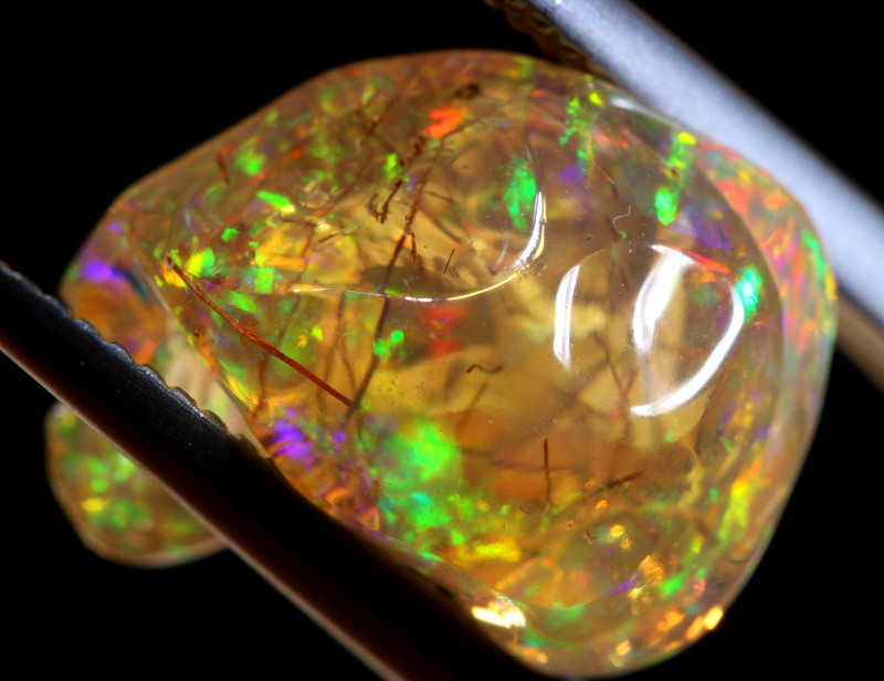 5.95 CTS MEXICAN FIRE OPAL STONE  FOB -2129