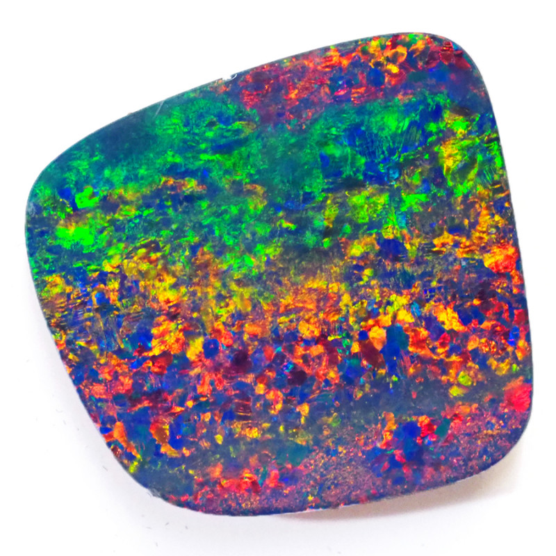 12.56CTS   GREAT SIZE OPAL DOUBLET TOP FLASHES OF COLOUR - S1507