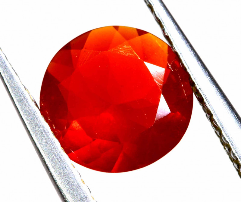 0.65 CTS MEXICAN FIRE OPAL FACETED STONE  FOB -2141