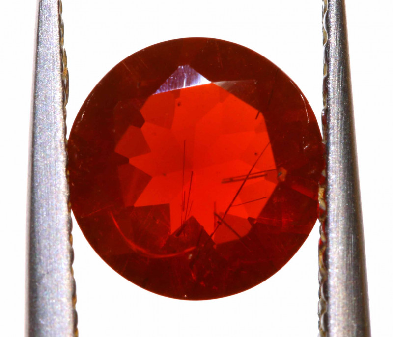 0.85 CTS MEXICAN FIRE OPAL FACETED STONE  FOB -2145