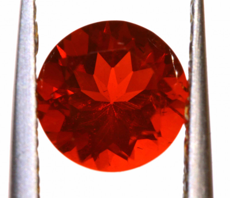 1.02 CTS MEXICAN FIRE OPAL FACETED STONE  FOB -2147