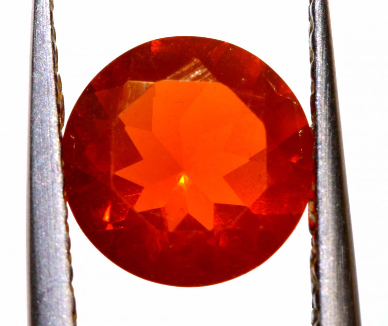 0.89 CTS MEXICAN FIRE OPAL FACETED STONE  FOB -2148