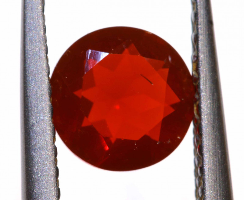 0.58 CTS MEXICAN FIRE OPAL FACETED STONE  FOB -2152