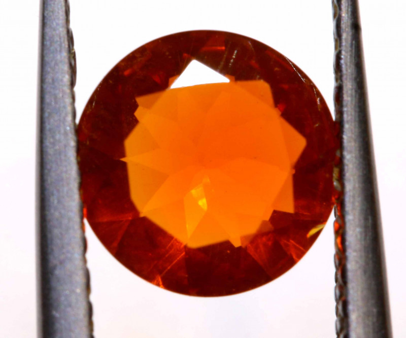 0.73 CTS MEXICAN FIRE OPAL FACETED STONE  FOB -2155