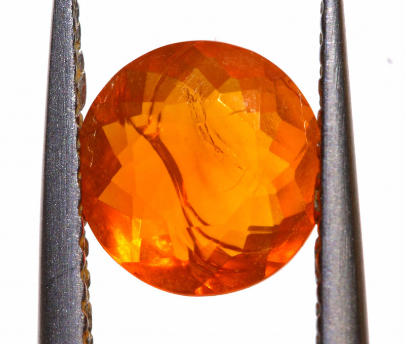 0.70 CTS MEXICAN FIRE OPAL FACETED STONE  FOB -2160
