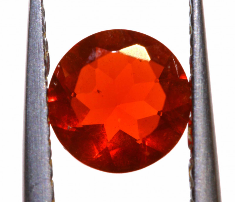 0.53 CTS MEXICAN FIRE OPAL FACETED STONE  FOB -2161
