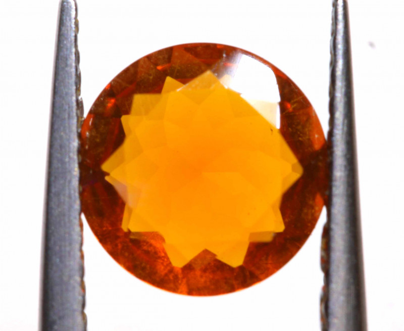 0.68 CTS MEXICAN FIRE OPAL FACETED STONE  FOB -2163