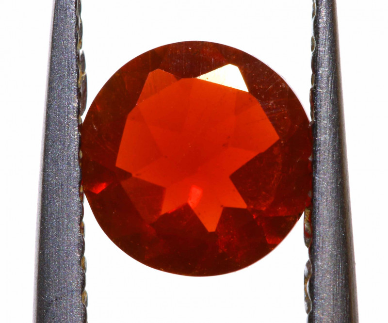0.42 CTS MEXICAN FIRE OPAL FACETED STONE  FOB -2169