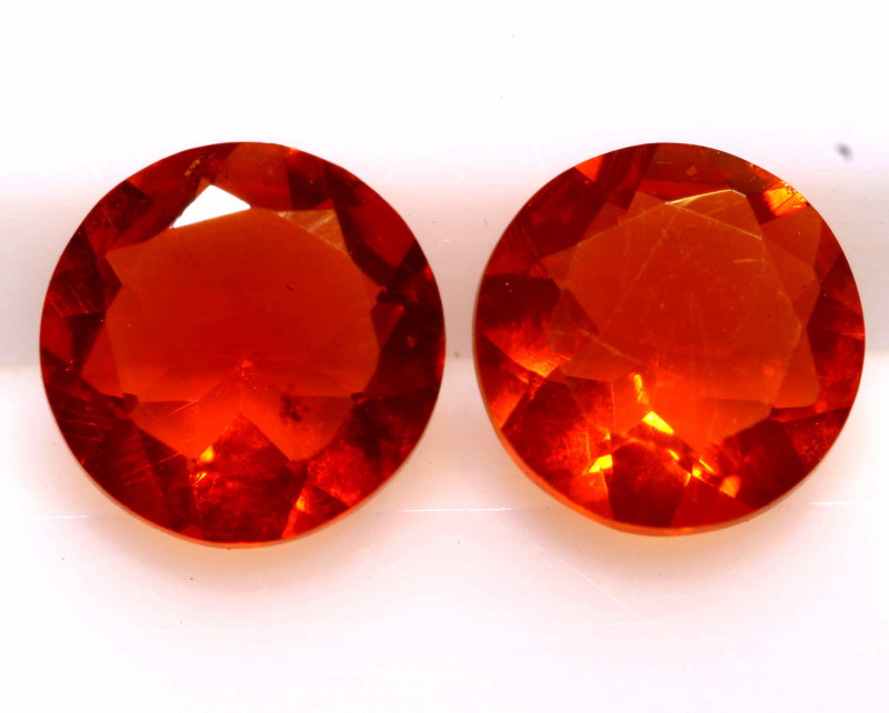 1 CTS MEXICAN FIRE OPAL FACETED STONE PAIR  FOB -2171