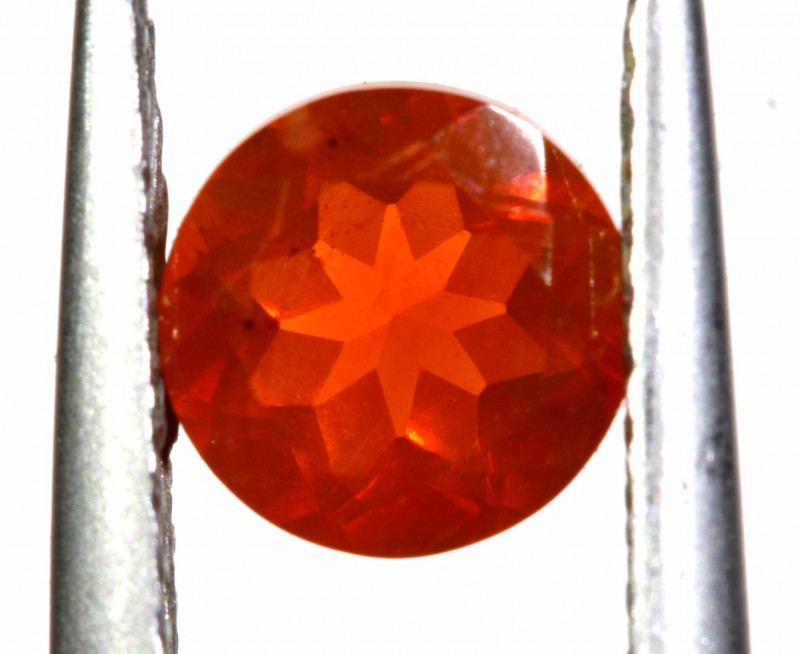 0.69 CTS MEXICAN FIRE OPAL FACETED STONE   FOB -2181