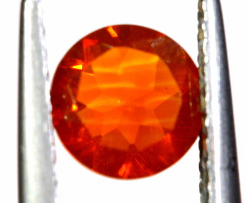 0.52 CTS MEXICAN FIRE OPAL FACETED STONE   FOB -2184