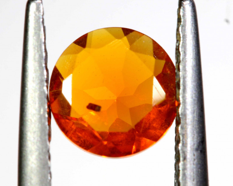 0.49 CTS MEXICAN FIRE OPAL FACETED STONE   FOB -2186