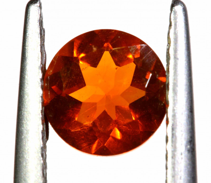 0.62 CTS MEXICAN FIRE OPAL FACETED STONE   FOB -2187