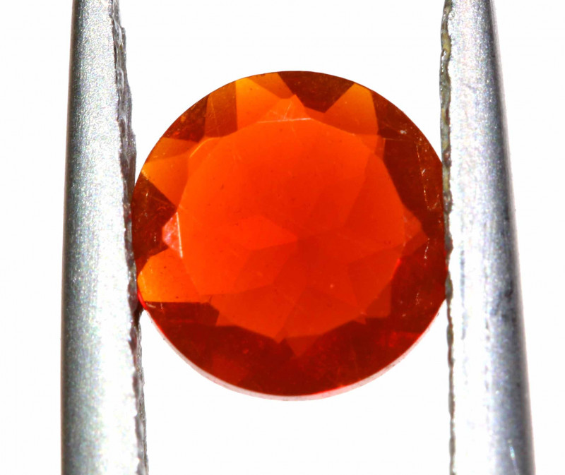 0.46 CTS MEXICAN FIRE OPAL FACETED STONE   FOB -2192