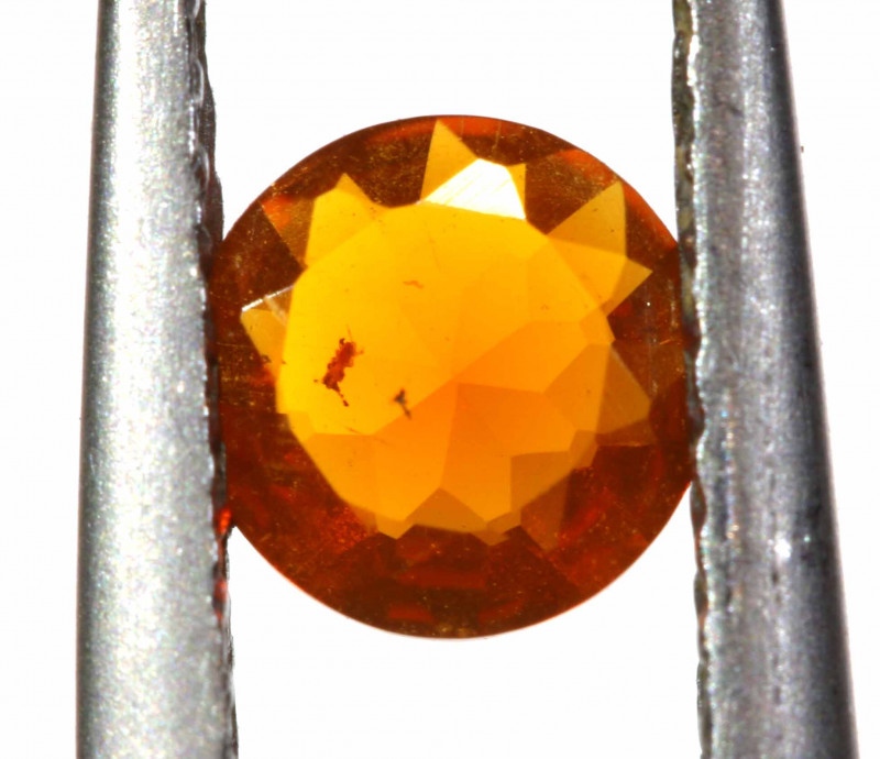 0.25 CTS MEXICAN FIRE OPAL FACETED STONE   FOB -2196