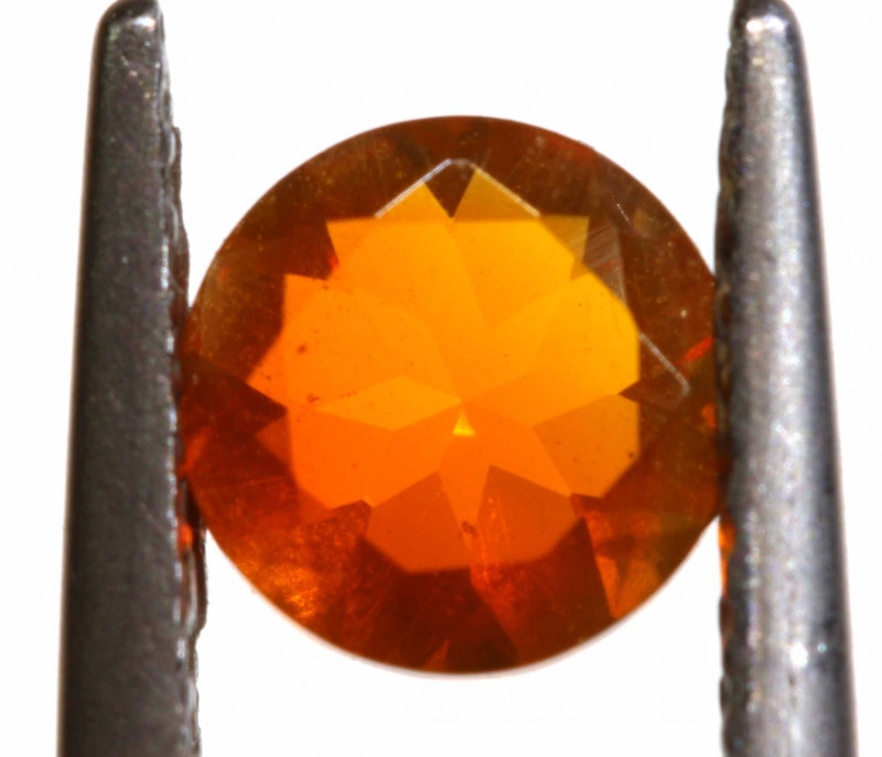 0.46 CTS MEXICAN FIRE OPAL FACETED STONE   FOB -2199