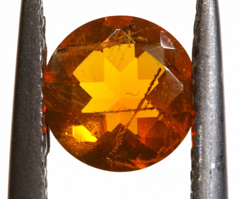 0.51 CTS MEXICAN FIRE OPAL FACETED STONE   FOB -2200