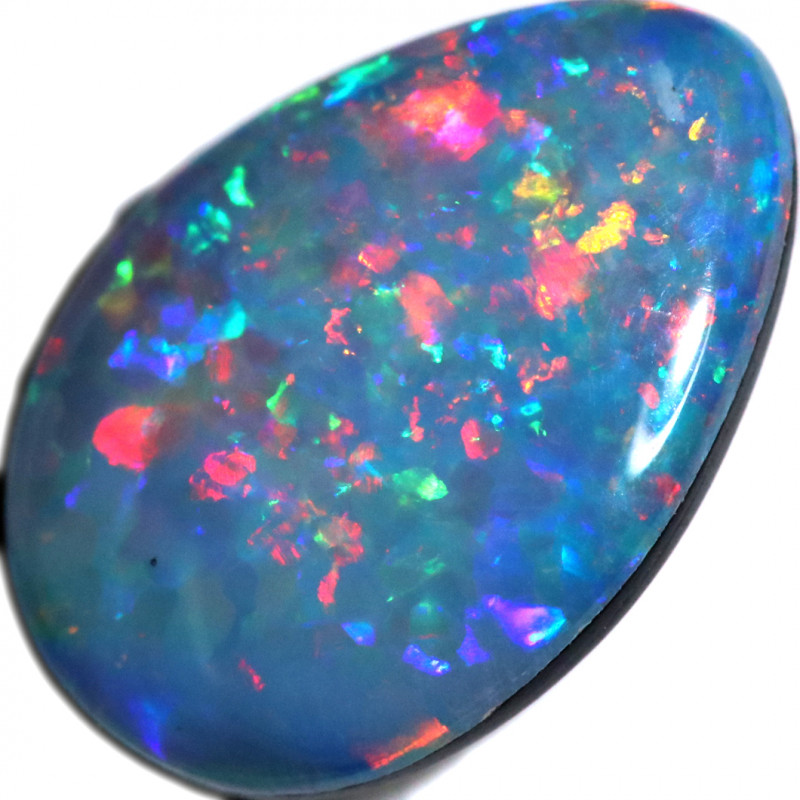 1.20 CTS OPAL SHELL FOSSIL DOUBLET   [SEDA7235]