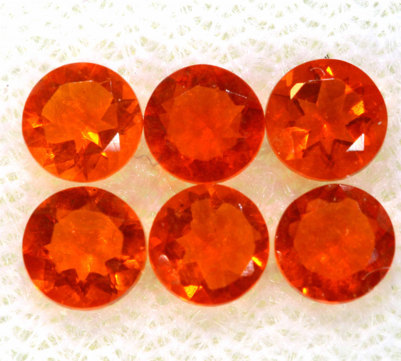 0.98 CTS MEXICAN FIRE OPAL FACETED STONE PARCEL  FOB -2229