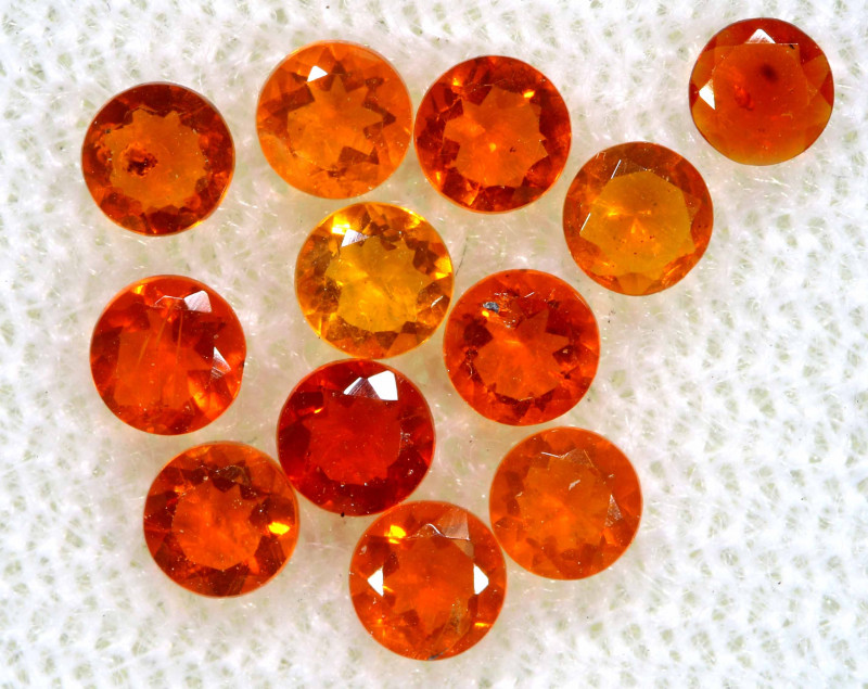 0.90 CTS MEXICAN FIRE OPAL FACETED STONE PARCEL  FOB -2245